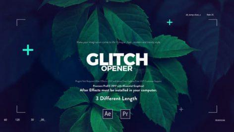 پروژه پریمیر با افکت نویز : تیتراژ Glitch Media Opener Premiere Pro