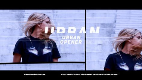 پروژه پریمیر بهمراه موزیک اصلی تیتراژ حرفه ای Urban Opener