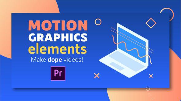 پروژه پریمیر پک حرفه ای موشن گرافیک : Motion Graphics Elements Pack