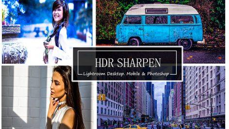 پریست لایت روم دسکتاپ و موبایل و کمرا راو : HDR SHARPEN - Mobile,Photoshop&LR