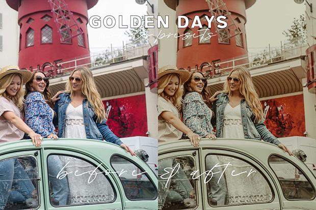 پریست لایت روم 5 عددی مخصوص موبایل : Golden Days Mobile Presets
