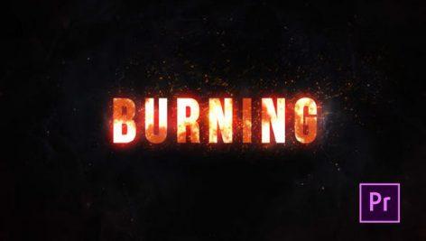 دانلود پروژه آماده پریمیر تایتل Burning Fire Title Premiere Pro