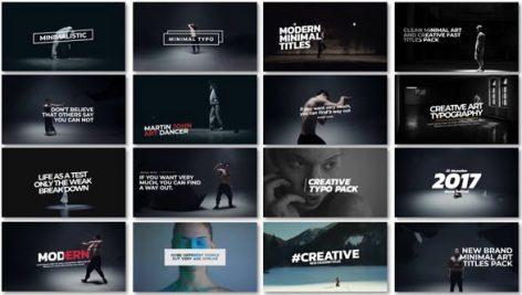 دانلود ۱۶ تایتل آماده پریمیر : تایتل هنری فیلم Minimal Art Titles