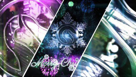 پروژه آماده افترافکت لوگو با موزیک : لوگوی برفی Snowflake Christmas Logo