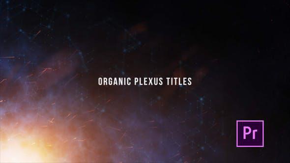 پروژه آماده پریمیر باموزیک  تایتل Organic Plexus Titles Premiere Pro