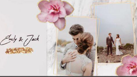 پروژه آماده پریمیر با موزیک اسلایدشو : آلبوم عکس عروسی Slideshow