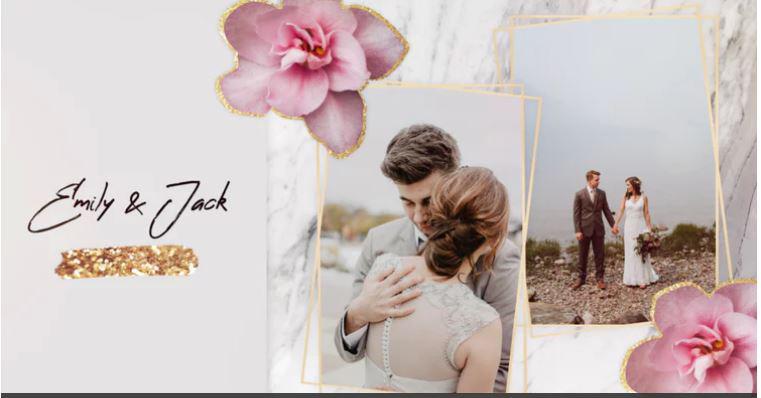 پروژه آماده پریمیر با موزیک اسلایدشو  آلبوم عکس عروسی Slideshow