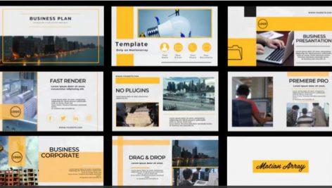 پروژه آماده پریمیر با موزیک معرفی شرکت Business Corporate
