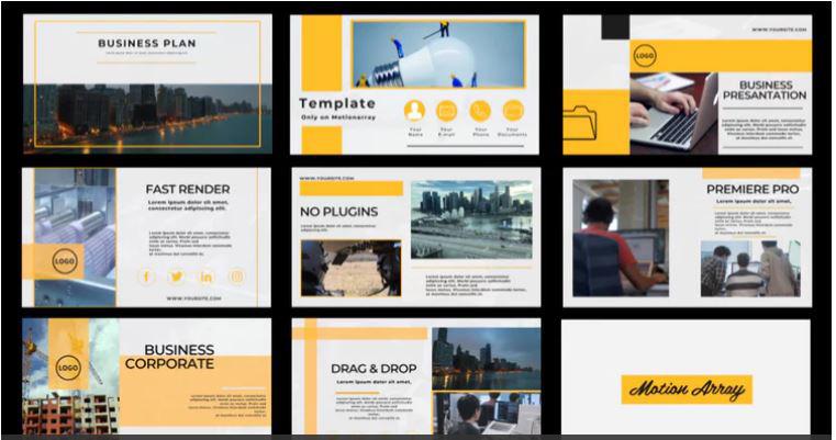 پروژه آماده پریمیر حرفه ای : معرفی شرکت Business Corporate