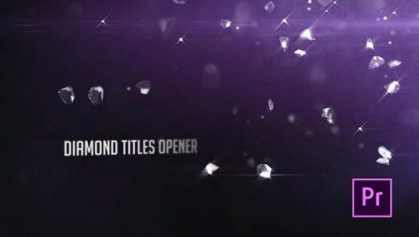 پروژه آماده پریمیر : تایتل افکت الماس Diamonds Particle Opener Titles
