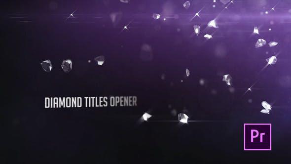 پروژه آماده پریمیر  تایتل افکت الماس Diamonds Particle Opener Titles