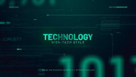پروژه افترافکت با موزیک : اسلایدشو تکنولوژی High Technology Promo Slideshow