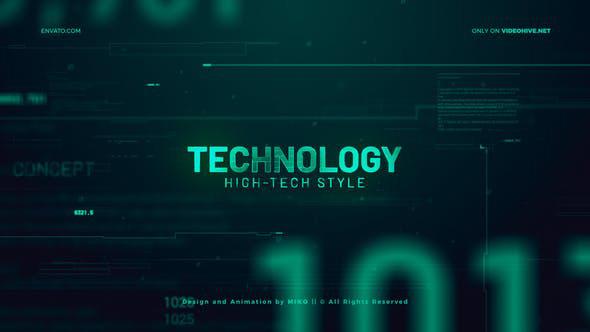پروژه افترافکت با موزیک  اسلایدشو تکنولوژی High Technology Promo Slideshow