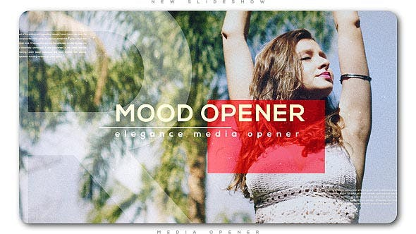 پروژه افترافکت با موزیک  اسلایدشو حرفه ای Mood Media Opener Slideshow