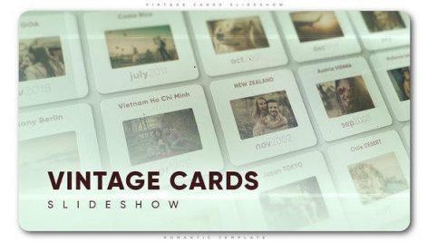 پروژه افترافکت با موزیک : اسلایدشو حرفه ای Vintage Cards Slideshow
