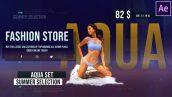 پروژه افترافکت با موزیک تبلیغات فروشگاهی Fashion Store