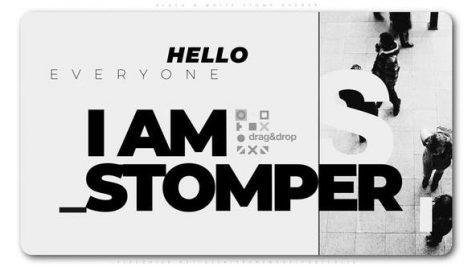 پروژه افترافکت با موزیک تیتراژ سینمایی Black And White Stomp Opener