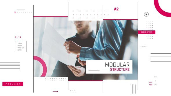 پروژه افترافکت با موزیک  معرفی شرکت Modern Corporate Promo