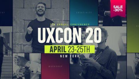 پروژه افترافکت با موزیک معرفی شرکت UXConference Event Promo