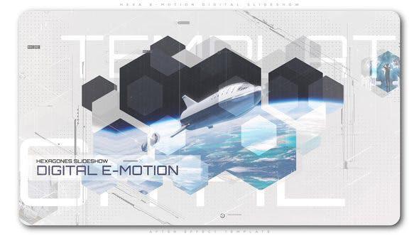 پروژه افترافکت حرفه ای با موزیک  معرفی شرکت Hexa E Motion Digital