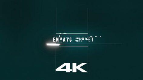 پروژه افترافکت رزولوشن  ۴K با موزیک اصلی : لوگو Glitch Logo