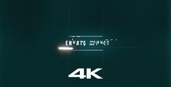 پروژه افترافکت رزولوشن  4K با موزیک اصلی  لوگو Glitch Logo