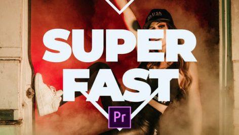پروژه پریمیر با موزیک ضرب تند : تیتراژ و وله Super Fast Promo