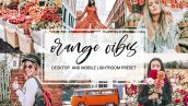 پریست لایت روم دسکتاپ و موبایل : تم نارنجی Orange Vibes Desktop Mobile Preset