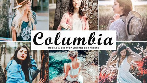 پریست لایت روم دسکتاپ و موبایل و کمرا راو Columbia Lightroom Presets Pack