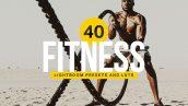 پریست لایت روم دسکتاپ و موبایل : Fitness Lightroom Presets & LUTs