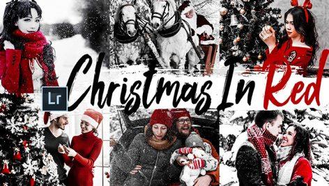 پریست لایت روم و کمرا راو Camera Raw و اکشن: Christmas in Red Lightroom Preset