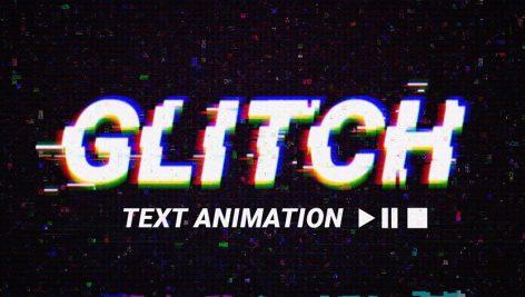 تایتل پریمیر با افکت گلیچ و نویز با موزیک Glitch Text Transitions