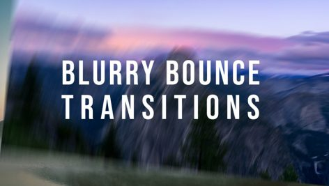 ترنزیشن پریمیر با افکت محو شدگی Blurry Bounce Transitions