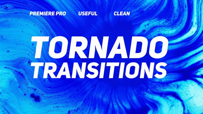 ترنزیشن پریمیر با افکت چندتایی Tornado Transitions