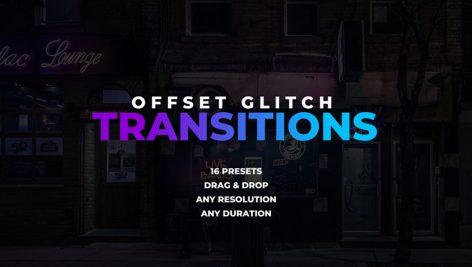 ترنزیشن پریمیر با افکت گلیچ و نویز : Offset Glitch Transitions