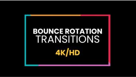 ترنزیشن پریمیر رزولوشن ۴K با افکت ضربه ای Bounce Rotation Transitions