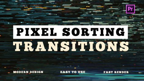 دانلود ترنزیشن پریمیر با افکت پیکسل Pixel Sorting Transitions