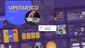دانلود قالب آماده پاورپوینت تم استارت آپ UPSTARTCO Startup PowerPoint Template