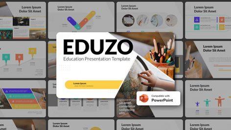 دانلود قالب آماده پاورپوینت تم جغرافیا EDUZO Education PowerPoint Template