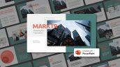 دانلود قالب آماده پاورپوینت تم مارکتینگ MARKTR Marketing Plan PowerPoint Template
