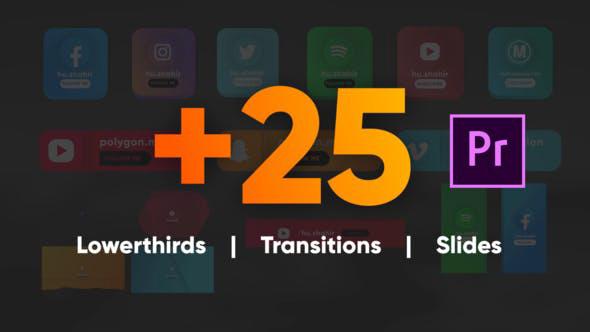 دانلود پروژه آماده پریمیر المانهای رسانه های اجتماعی Social Media Pack MOGRT