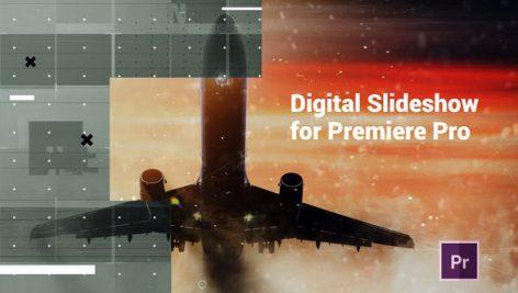 دانلود پروژه آماده پریمیر با موزیک : اسلایدشو مدرن Digital Slideshow Presentation