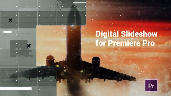 دانلود پروژه آماده پریمیر با موزیک  اسلایدشو مدرن Digital Slideshow Presentation