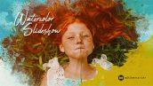 پروژه افترافکت با موزیک اسلایدشو آبرنگی Watercolor Slideshow
