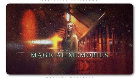پروژه افترافکت با موزیک اسلایدشو افکت پارتیکل Particles Slideshow Magical Memories
