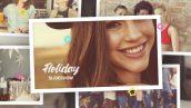 پروژه افترافکت با موزیک اسلایدشو خاطره تعطیلات Holiday Photo Slideshow