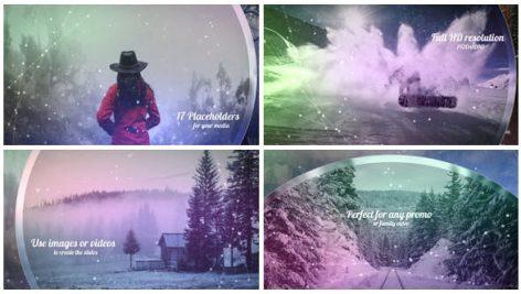 پروژه افترافکت با موزیک : اسلایدشو زمستانی Winter Slideshow