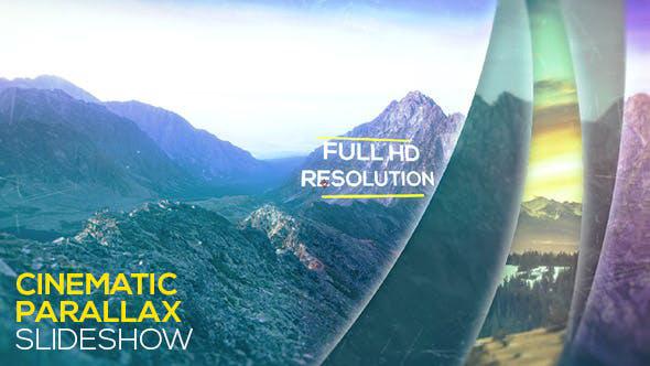 پروژه افترافکت با موزیک اسلایدشو سینمایی پارالاکس Cinematic Parallax Slideshow