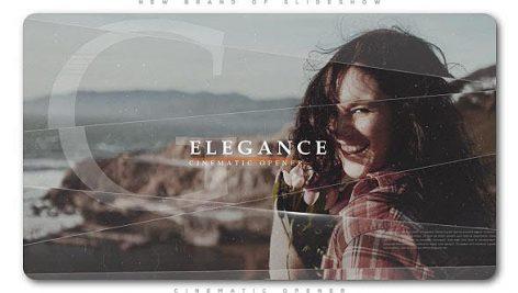 پروژه افترافکت با موزیک اسلایدشو سینمایی پارالاکس Elegance Cinematic Opener Slideshow