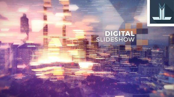 پروژه افترافکت با موزیک  اسلایدشو مدرن Digital Slideshow